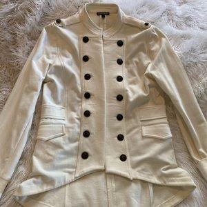 Cream Pea Coat from Express